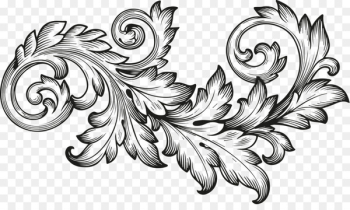 Ornament Scroll Engraving Acanthus - baroque  png image transparent background