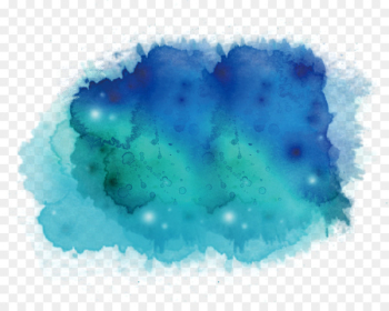 Ink wash painting Watercolor painting Blue Teal Illustration - Green watercolour  png image transparent background