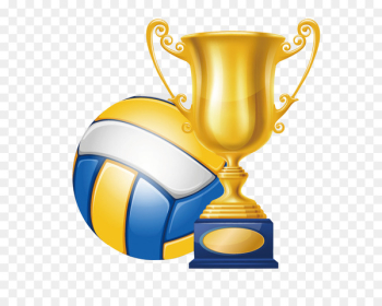 Volleyball Trophy Champion Clip art - Volleyball championship trophy  png image transparent background