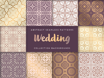 Collection of ethnic golden patterns