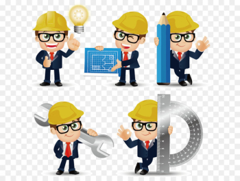 Civil Engineering Euclidean vector - Construction engineer cartoons  png image transparent background