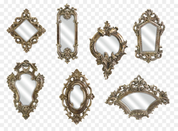 Mirror Light Wall Picture frame Reflection - Retro Mirror  png image transparent background
