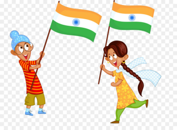 Indian independence movement Flag of India - Indian children  png image transparent background