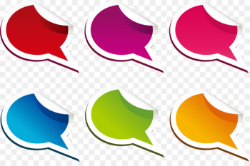 Paper Dialog box Clip art - A variety of exquisite color tear small dialog box  png image transparent background
