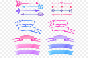 Watercolor painting - Vector painted banners  png image transparent background