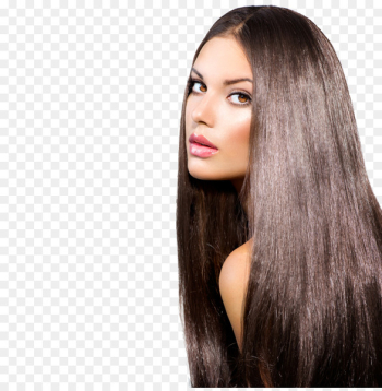 Artificial hair integrations Brown hair Hair straightening Hairstyle - long hair  png image transparent background