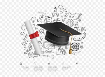 Campus graduation background element vector material  png image transparent background