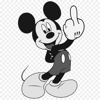 Mickey Mouse Minnie Mouse Donald Duck The finger The Walt Disney Company - mickey clipart  png image transparent background