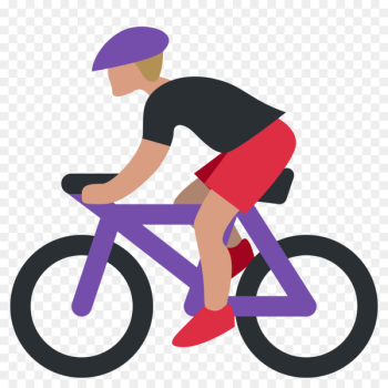 Emoji Cycling Bicycle SMS Bicyclist Mountain - bicycles  png image transparent background