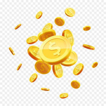 Gold coin Stock photography Royalty-free - Flying scattered gold coin vector material  png image transparent background