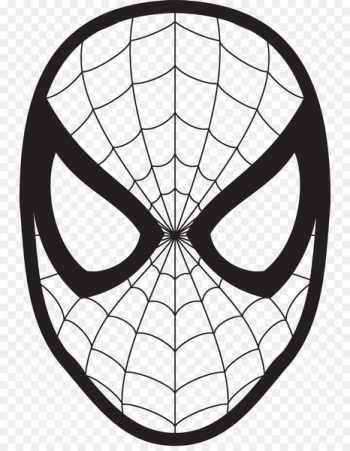 Spider-Man Drawing Face Coloring book Clip art - Spider-Man Mask Cliparts  png image transparent background