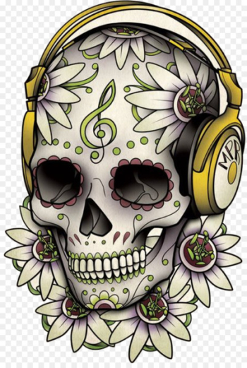 Calavera Tattoo Skull Day of the Dead Drawing - sugar skulls  png image transparent background