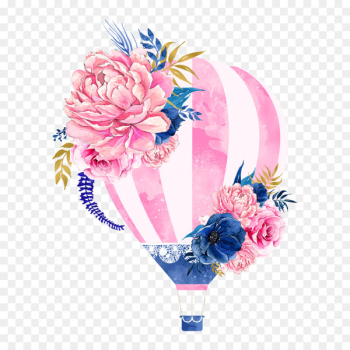 Hot air balloon Flower Clip art - Hot air balloon flowers  png image transparent background