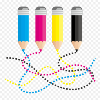 CMYK color model RGB color model Euclidean vector Curve - Color pen and curves  png image transparent background