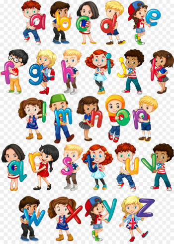 Euclidean vector Child Letter Woman Illustration - Vector hand-painted children holding English letters  png image transparent background