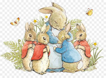 The Tale of Peter Rabbit and Benjamin Bunny Mrs. Rabbit The Tale of the Flopsy Bunnies - rabbit  png image transparent background