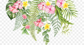 Cut flowers Wall decal Floral design - tropical flower  png image transparent background