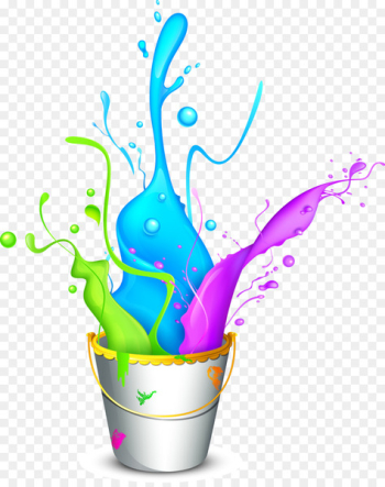 Holi Wallpaper - Colorful bucket paint  png image transparent background