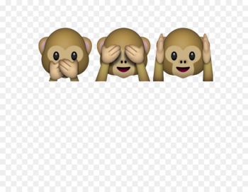 Three wise monkeys Emojipedia The Evil Monkey - emoticons  png image transparent background