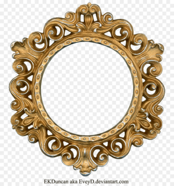 Picture frame Clip art - Golden Round Frame PNG Photo  png image transparent background