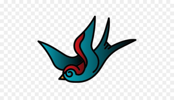 Bird Old school (tattoo) Scalable Vector Graphics - Flying bird  png image transparent background