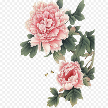 Chinese painting Peony Gongbi Art - peony  png image transparent background