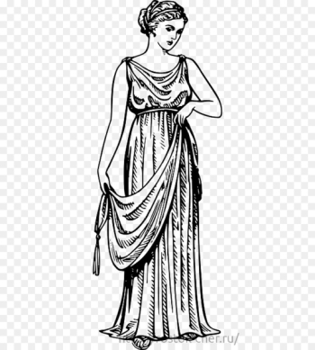 Ancient Greece Chiton Peplos Greek dress Archaic Greece - woman  png image transparent background