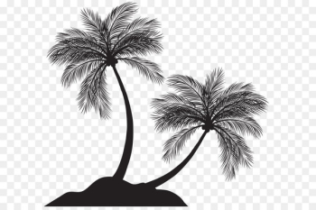 Arecaceae Silhouette Clip art - Two Palm Trees Silhouette PNG Clip Art  png image transparent background