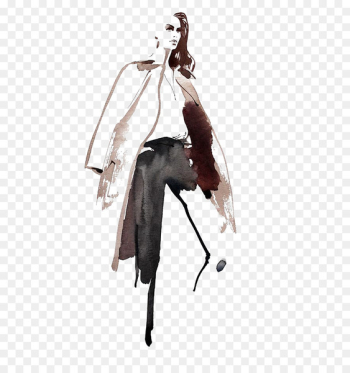 New York Fashion Week Fashion illustration Drawing Illustration - European and American Graffiti woman  png image transparent background
