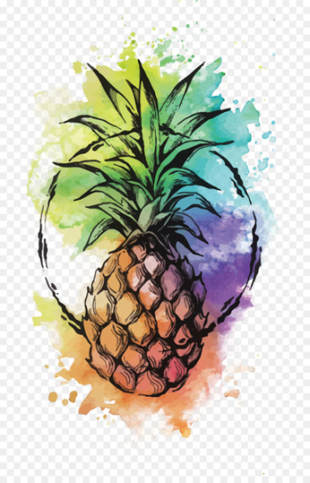 Pineapple Cocktail Watercolor painting Punch Tattoo - Vector Watercolor Pineapple  png image transparent background