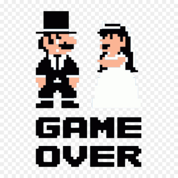 T-shirt Hoodie Wedding Clothing - Super Marie game failed  png image transparent background