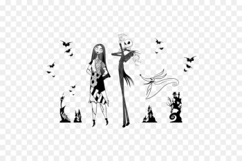 Jack Skellington Black and white The Nightmare Before Christmas: The Pumpkin King Oogie Boogie Art - Jack and sally  png image transparent background