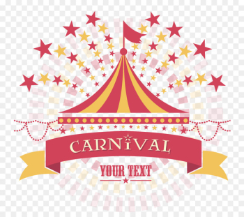 Template Carnival Circus - Vector silhouette circus  png image transparent background
