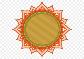 Thai Pongal Lohri Happiness Wish - Sun lace title box  png image transparent background