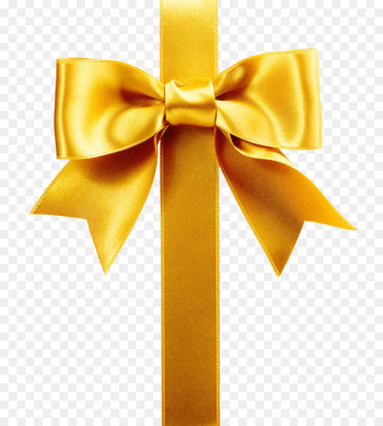 Ribbon Gift wrapping Satin Stock photography - Golden gift bow pattern  png image transparent background