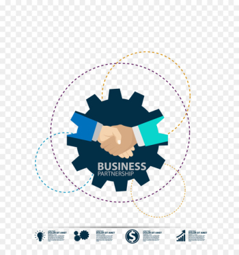 Icon - Business handshake map vector material  png image transparent background