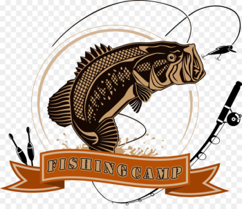 Logo Fishing Angling Illustration - Vector Fishing Club  png image transparent background