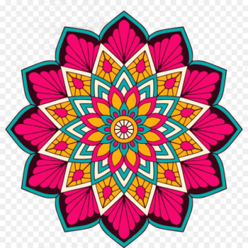 Coloring Mandalas of Flowers Exploring Color Hinduism Buddhism - red wine mandala  png image transparent background