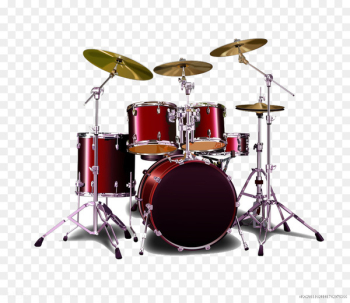 Sticker Bass drum Decal Drums - Red drum  png image transparent background