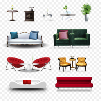 Table Furniture Living room Chair - Furniture Vector  png image transparent background