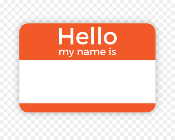 Name tag Label Paper Template Badge - Hello My Name Is  png image transparent background