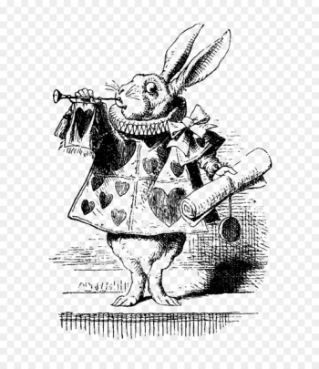Alice's Adventures in Wonderland White Rabbit The Mad Hatter The Tenniel Illustrations for Carroll's Alice in Wonderland - alice in wonderland  png image transparent background
