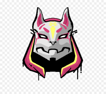 Drawing ZY Fortnite Costume Latex Mask Fox Drift Mask Image - aug sign  png image transparent background