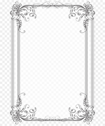 Borders and Frames Wedding invitation Picture Frames Microsoft Word Clip art - vintage border  png image transparent background