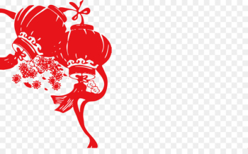 Chinese New Year Lantern Festival Papercutting - associates vector  png image transparent background