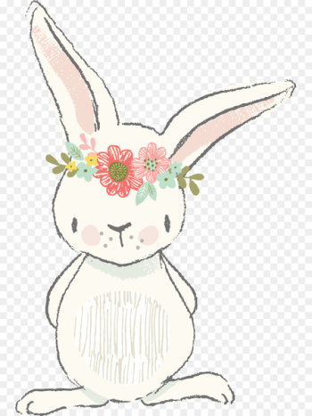 Easter Bunny Clip art Watercolor painting Illustration - Easter  png image transparent background