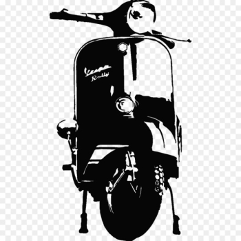 Sticker Wall decal Motorcycle - vespa  png image transparent background