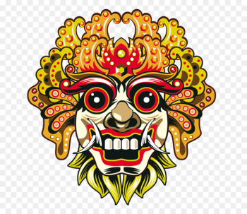 Bali Barong Mask Euclidean vector - Chiefs Face  png image transparent background