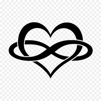 Infinity symbol Heart Tattoo - persevere  png image transparent background