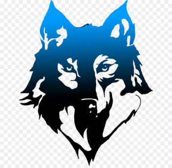 Gray wolf T-shirt Hoodie Logo Art - BLUE WOLF  png image transparent background